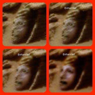 На Красной планете обнаружено лицо марсианской богини