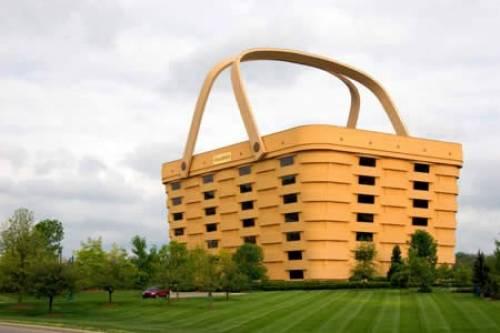 Дом в форме корзины
