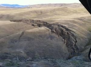Гигантская трещина образовалась около Йеллоустоуна