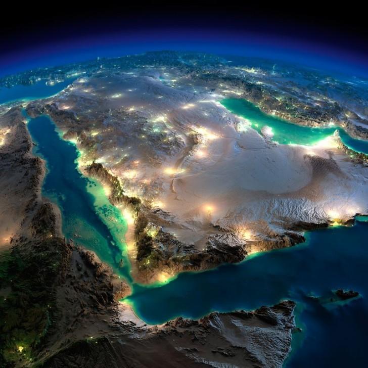 3D фотографии ночной Земли из космоса