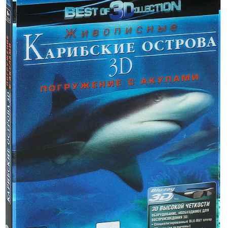 Купить Живописные Карибские острова: Погружение с акулами 3D и 2D (Blu-ray)