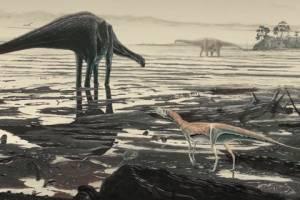 В Шотландии нашли сотни следов гигантских динозавров