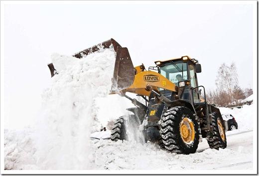 Удаление снега: невозможность ведения работ