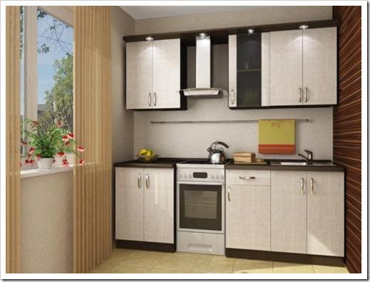 Дизайн компактной кухни.