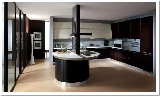 Стиль хайтек в интерьере кухни.
