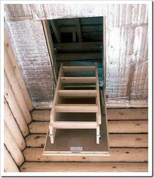 Принцип работы складной лестницы на чердак