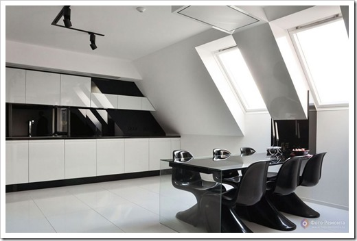 Дизайн кухни в стиле хайтек.