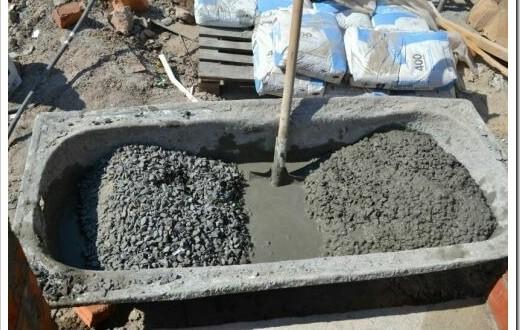 Как правильно сделать бетон из цемента 4