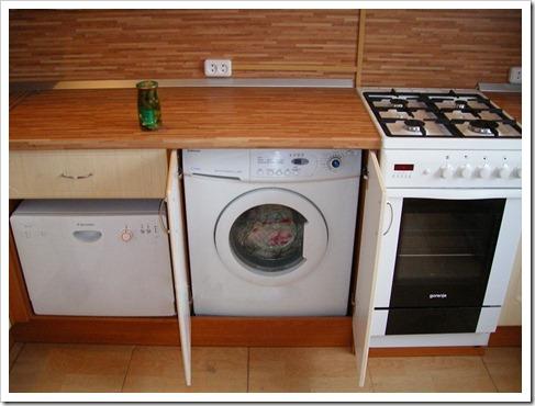Неиспользование фасада посудомоечной машины