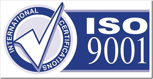 актуальный ISO 9001 сертификат