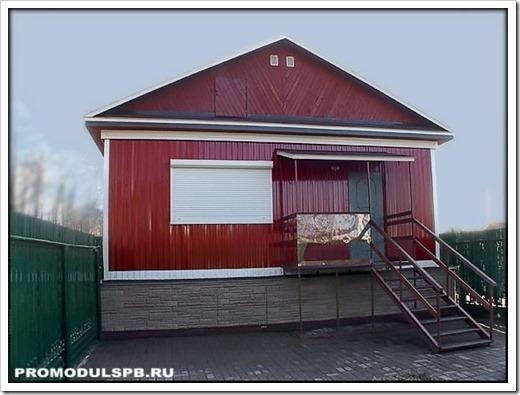 Производство загородного дома из модульного здания.