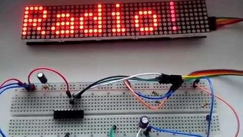 как подключить светодиодную матрицу