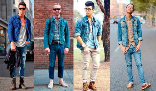 с чем носить мужскую джинсовую куртку