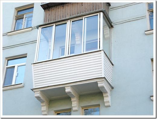 Остекление балкона в Долгопрудном