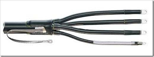 Пошаговое исполнение установки концевой муфты на силовой кабель