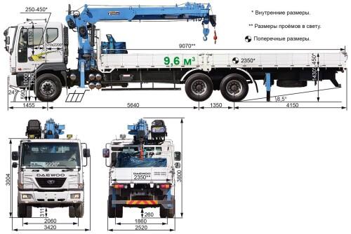 Daewoo Novus с КМУ: виды и технические характеристики